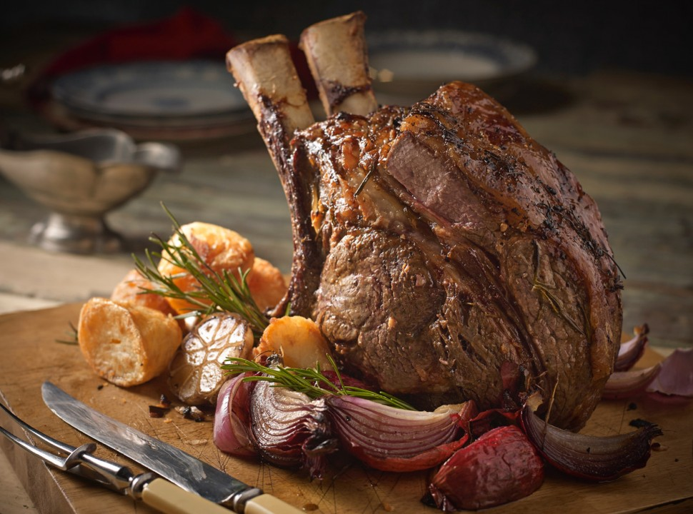 Garlic and Rosemary Rib of Beef